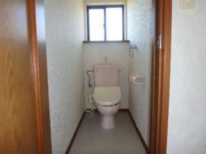 千葉県安房郡鋸南町元名の中古物件 道の駅保田小学校近く 1階ホールにあるトイレ