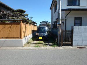 千葉県館山市北条の土地 海近くの物件 移住用地 道路から旗竿となります