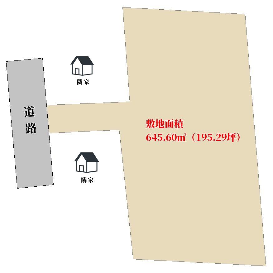 千葉県館山市北条の物件敷地図