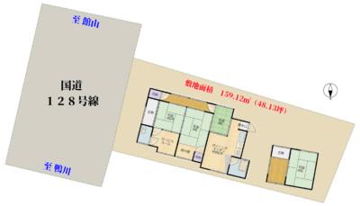海浜売家 南房総市和田町仁我浦 3SDK 420万円 物件概略図
