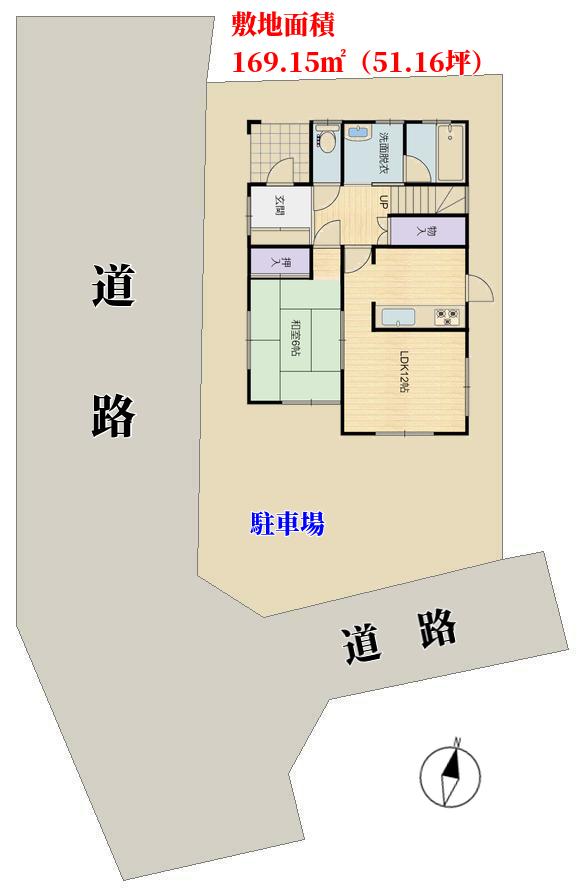 安房郡鋸南町、中古物件の敷地概略図