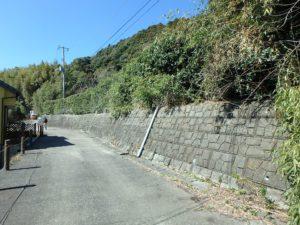 千葉県鴨川市花房の土地 南房総の不動産 鴨川の海が見える物件 敷地は接道から一段上