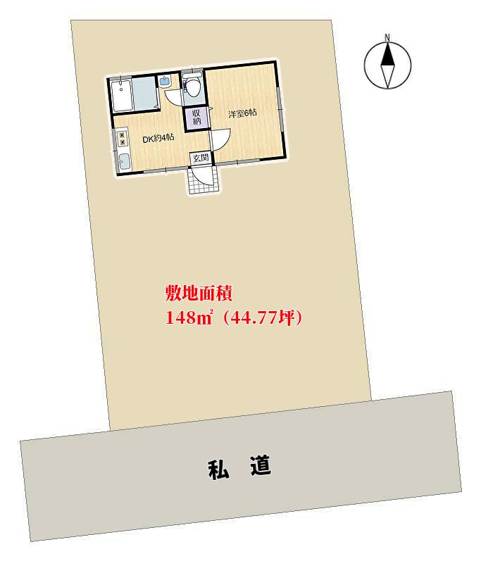 館山市波左間の別荘 敷地図