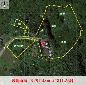 耕作地付売家 南房総市和田町上三原 4DK 一時中断 物件概略図
