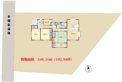 売家 館山市国分 3SLDK 800万円 物件概略図
