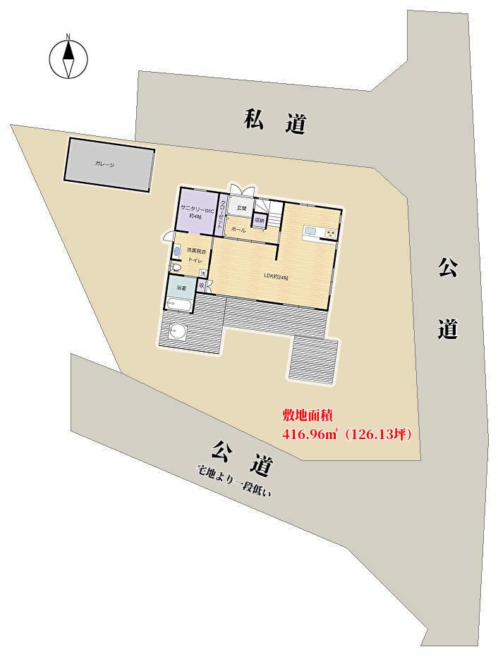 千葉県南房総市白浜町の海が見える別荘敷地概略