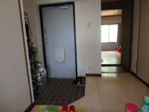 千葉県館山市洲崎のマンション 海が見える物件 リゾート別荘 玄関のようす