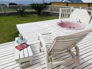 千葉県南房総市白浜町 海一望の物件 海が見える別荘 おしゃれな家 オーナー様から一枚!