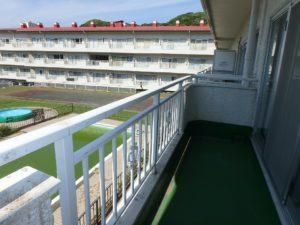 千葉県館山市洲崎のマンション 海が見える物件 リゾート別荘 バルコニーのようすです