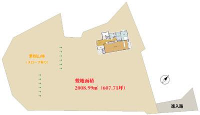 大型売別荘 安房郡鋸南町下佐久間 4LDK 2800万円 物件概略図
