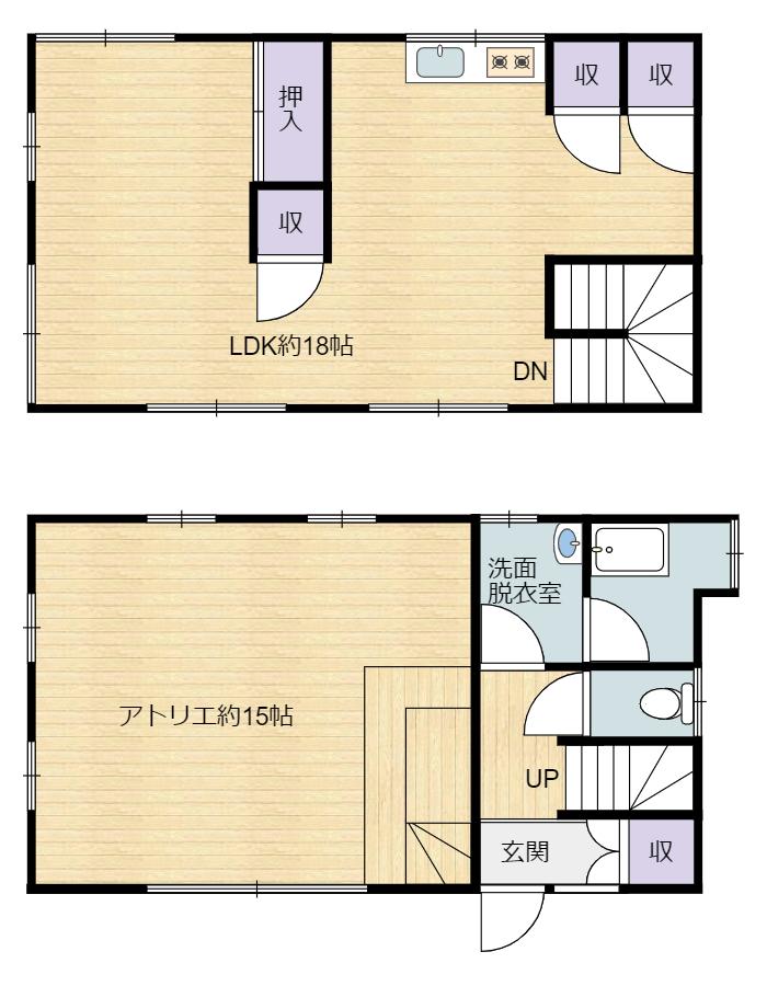 千葉県館山市の不動産 布沼 別荘の間取り図