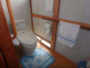 千葉県館山市の不動産 中古住宅 海が見える物件 田舎暮らし トイレは簡易水洗となります