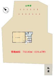 海浜売アトリエ別荘 館山市布沼(めぬま) 1LDK 750万円 物件概略図