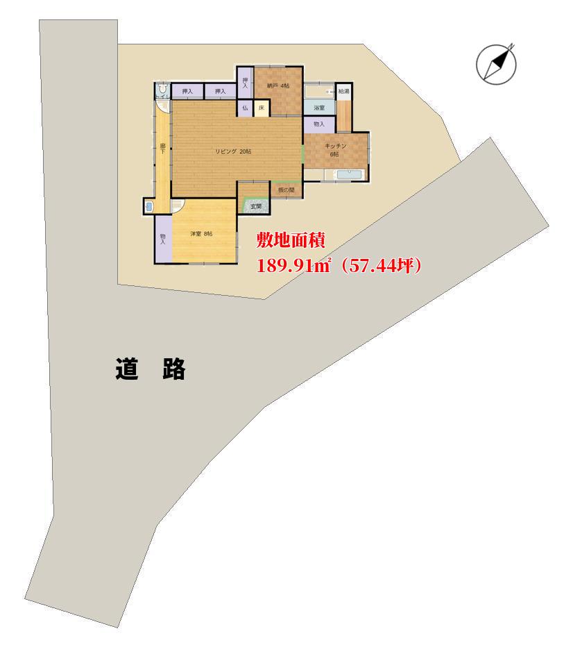 千葉県館山市布良の古民家 敷地のようす