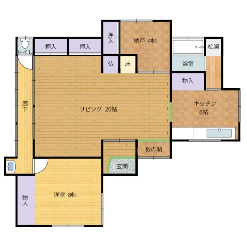 千葉県館山市布良 古民家の物件間取り図