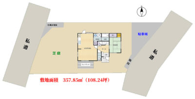 海望売別荘 館山市加賀名 4SLDK 一時中断 物件概略図