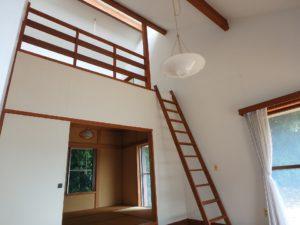 千葉県館山市館山の不動産 中古住宅 館山の別荘 ロフトに上がってみましょう