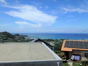 千葉県館山市加賀名ポピーランドの別荘 海一望の物件 海が見える不動産 高台から海を一望します