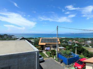 千葉県館山市加賀名ポピーランドの別荘 海一望の物件 海が見える不動産 窓からはこんな海の景色が