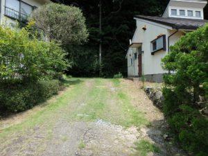 千葉県館山市館山の不動産 中古住宅 館山の別荘 ここが進入通路