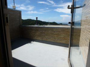 千葉県館山市加賀名ポピーランドの別荘 海一望の物件 海が見える不動産 3階の見晴らしバルコニー