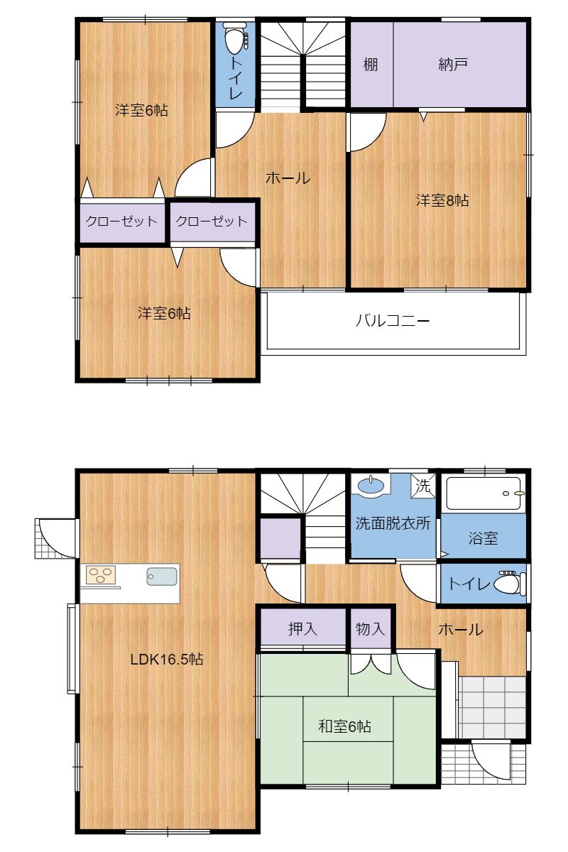 千葉県館山市正木の物件間取り図