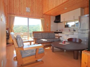 千葉県館山市加賀名ポピーランドの別荘 海一望の物件 海が見える不動産 1階はLDKと和室