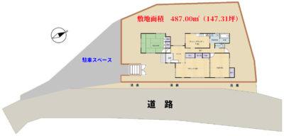 和風売家 南房総市千倉町北朝夷 2LDK 1650万円 物件概略図