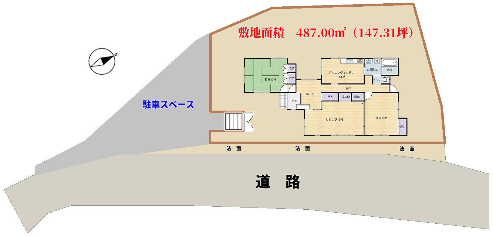 千葉県南房総市千倉町の物件敷地図