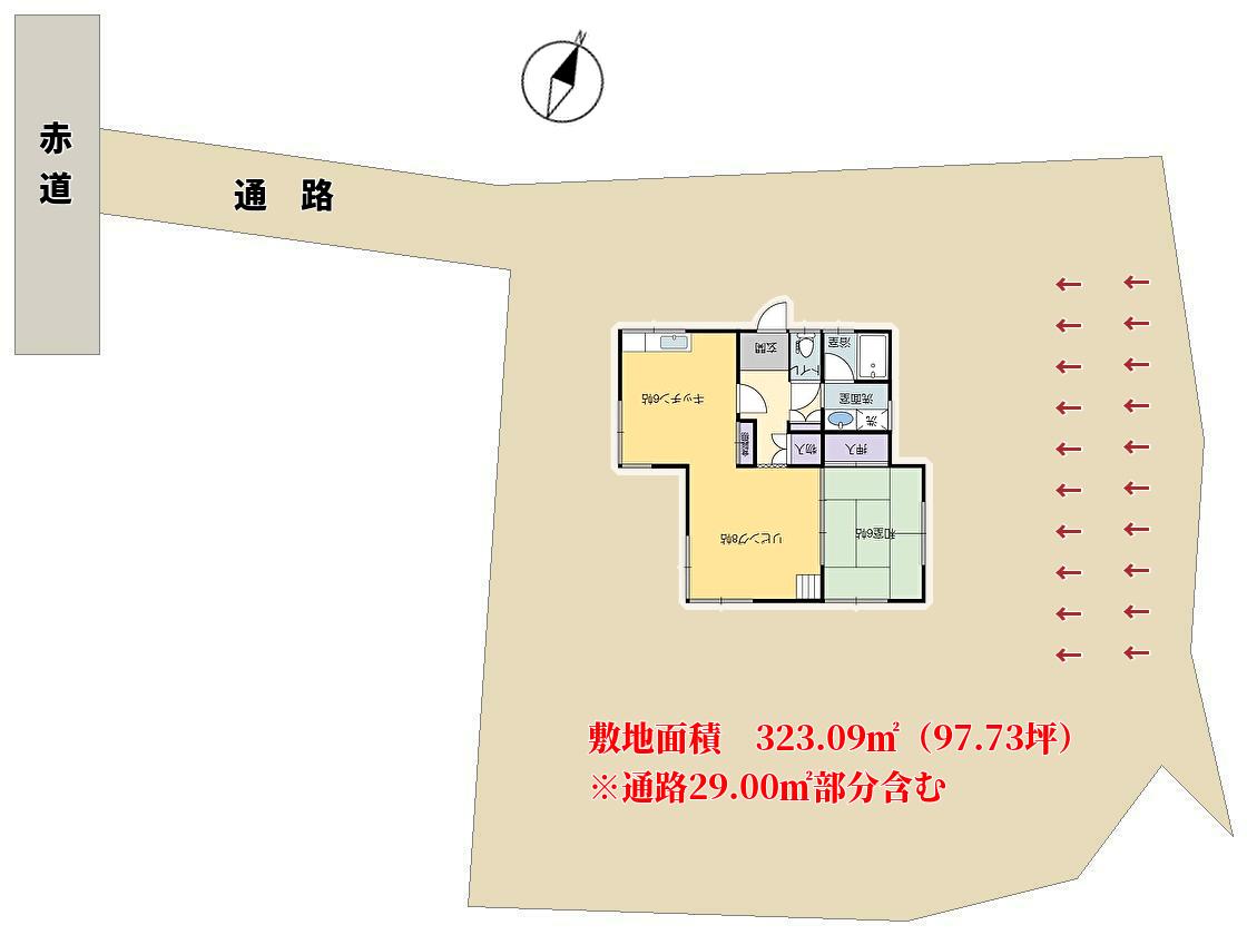 千葉県館山市館山の別荘 敷地図