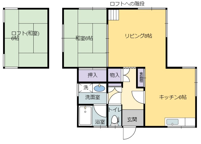 千葉県館山市館山の別荘 間取り図