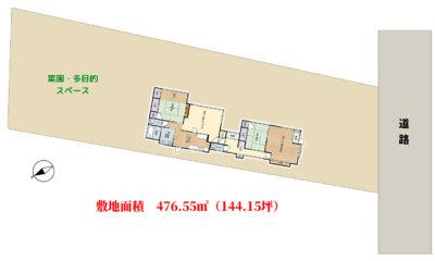 売家 館山市長須賀 5LDK 1100万円 物件概略図