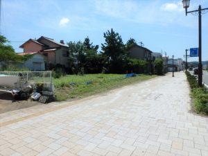 千葉県館山市北条海岸 海が見える土地 海沿い、海前の物件・不動産 歩道も広くて安心