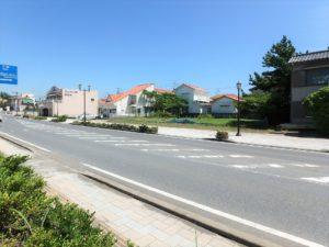 千葉県館山市北条海岸 海が見える土地 海沿い、海前の物件・不動産 海側から物件を見ます