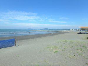 千葉県館山市北条海岸 海が見える土地 海沿い、海前の物件・不動産 目の前の北条海岸に来ました