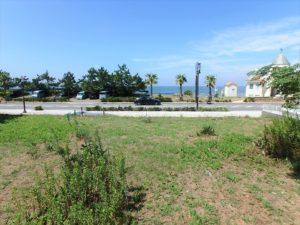 千葉県館山市北条海岸 海が見える土地 海沿い、海前の物件・不動産 建築すればもっと海が見える