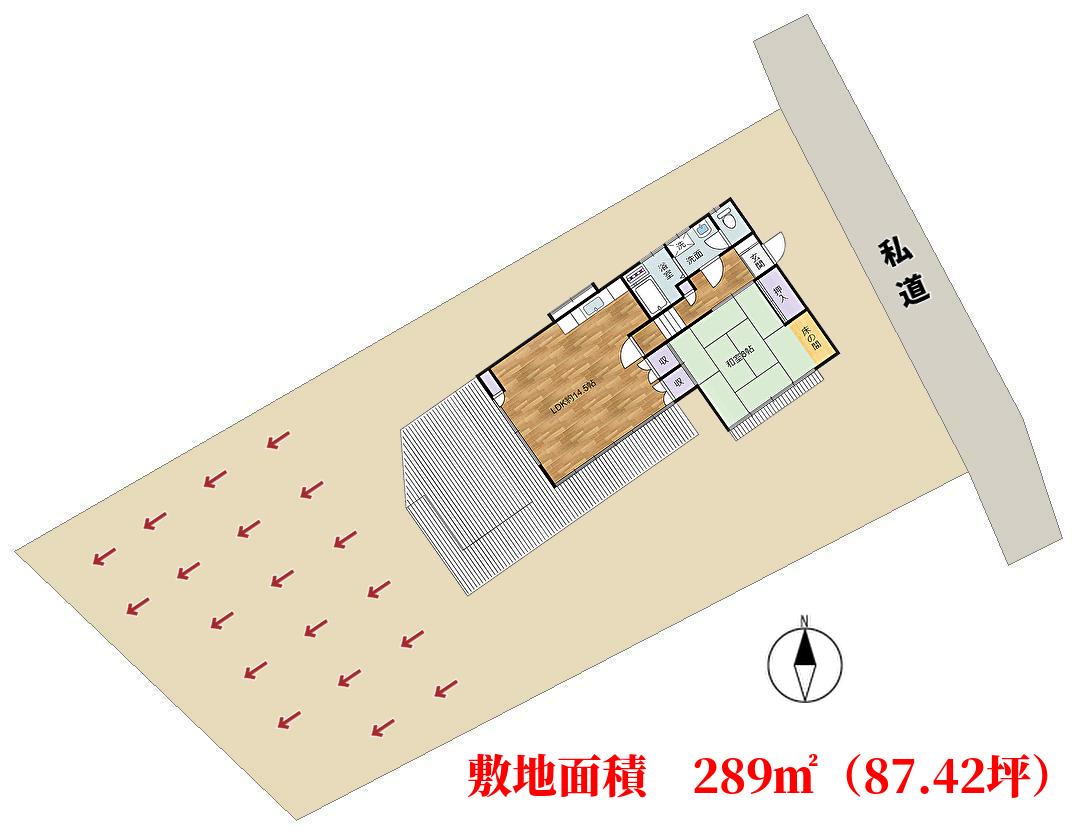 アルカディア別荘敷地図