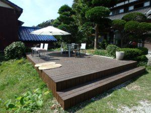 千葉県館山市亀ヶ原の不動産 田舎暮らし物件 日本家屋 お茶するデッキを造りました