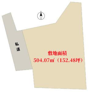 売地 南房総市本織 504.07㎡(152.48坪) 280万円 物件概略図