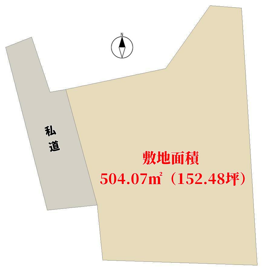 千葉県南房総市本織の物件敷地図