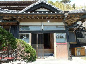 千葉県館山市亀ヶ原の不動産 田舎暮らし物件 日本家屋 入母屋の美しい玄関