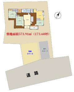 和風売家 館山市亀ヶ原 6DK 2580万円 物件概略図