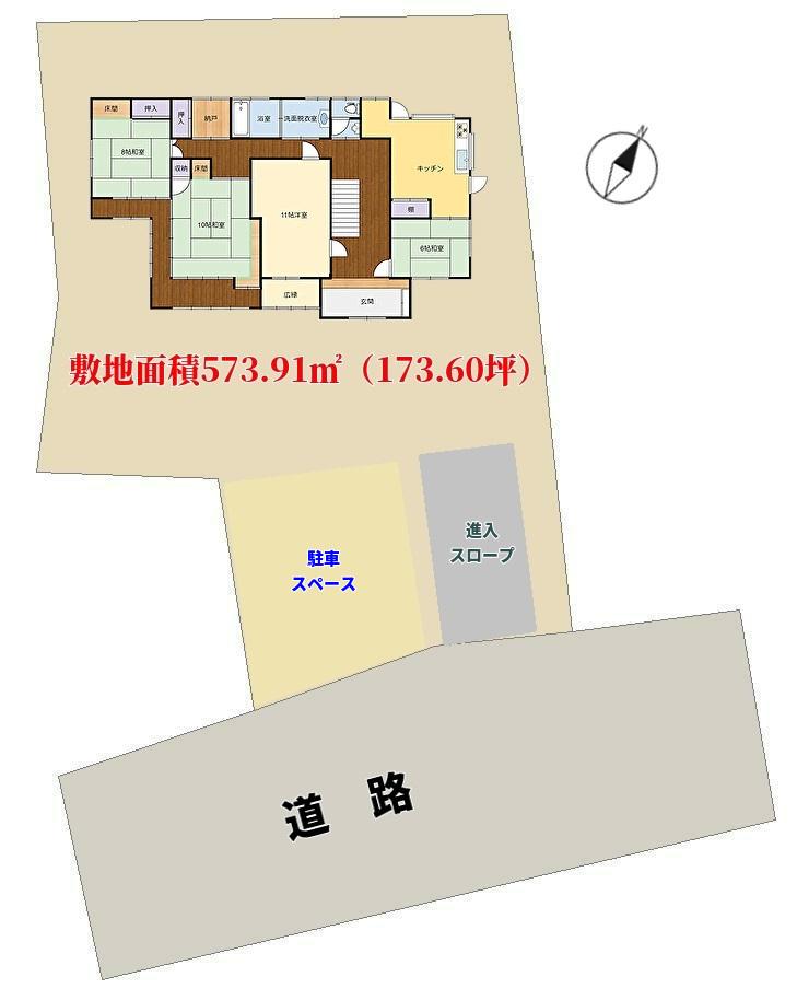 館山市亀ヶ原の不動産 敷地図