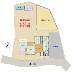 海浜売家 鴨川市江見吉浦 5DK+サンルーム 1580万円 物件概略図