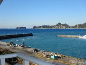 千葉県南房総市高崎の不動産、海前の物件、豪華別荘、ハーバーアイランド岩井、目の前は真っ青な海