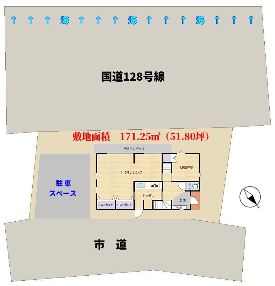 南房総市和田町白渚 敷地図