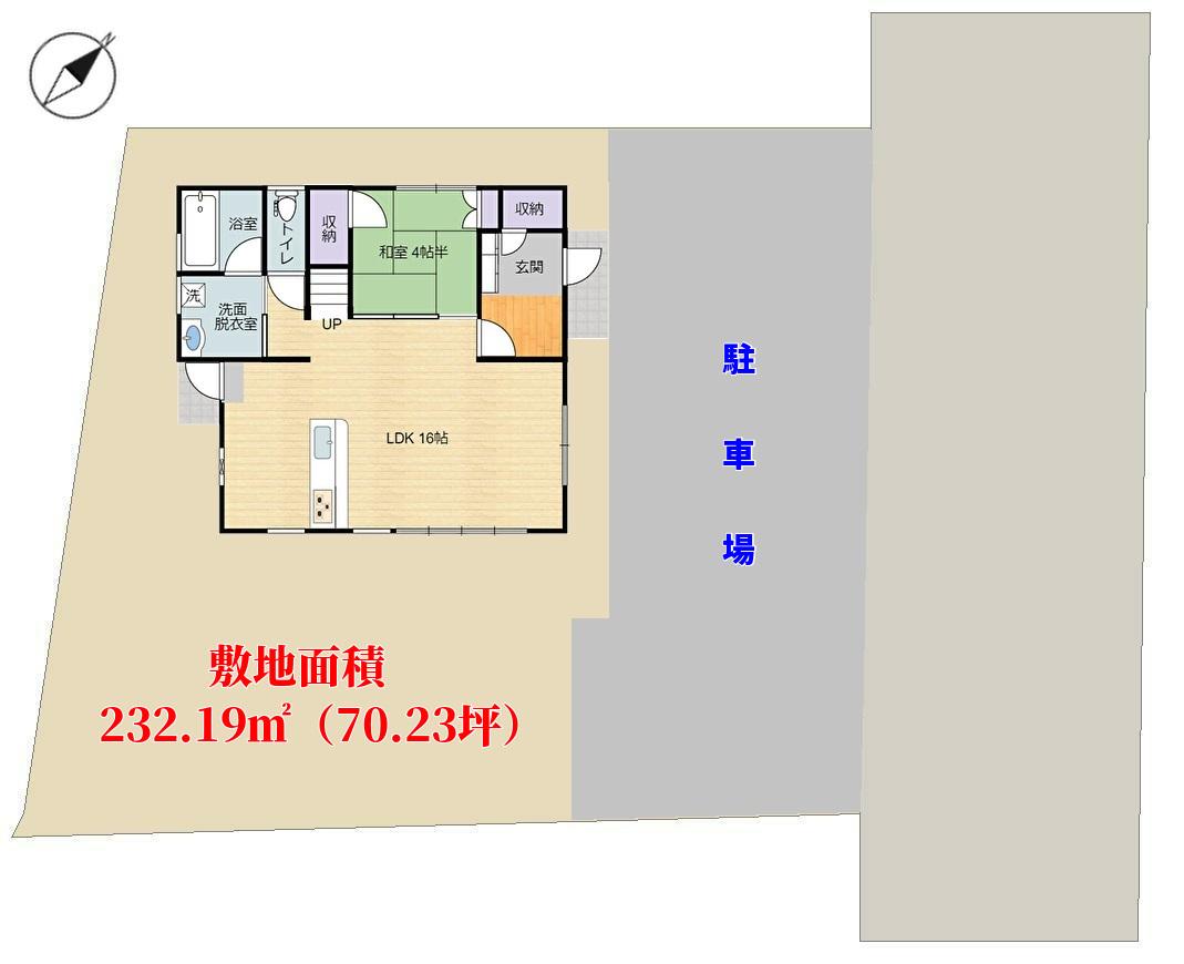 千葉県鴨川市花房の新築住宅 敷地概略図