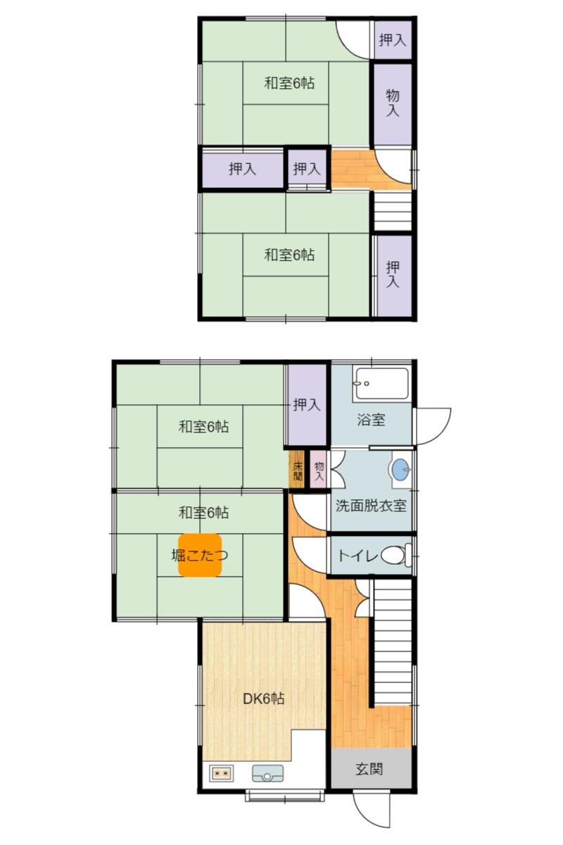 千葉県館山市見物の中古住宅 物件間取り図