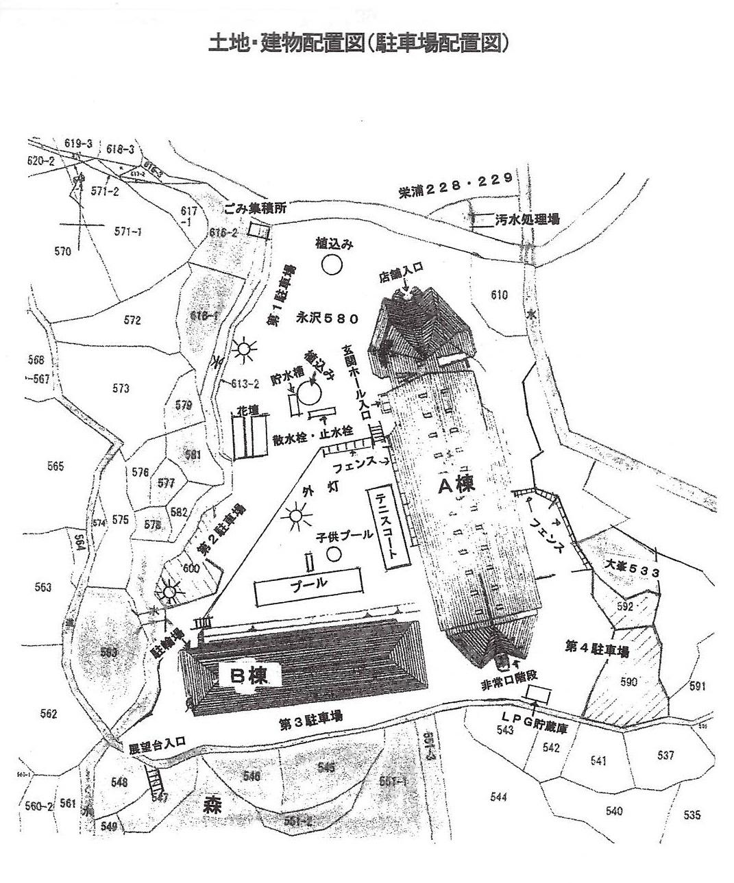 千葉県館山市洲崎のマンション 敷地概略