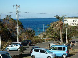 千葉県館山市洲崎の不動産、マンション、洲崎ロイヤルマンション、海の別荘 リビングから海見えます